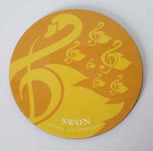 SWON yellow coaster