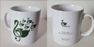 SWON mug dark green